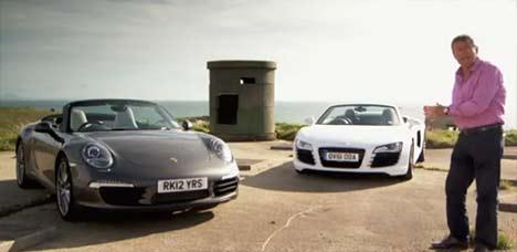 Porsche 911 Cabriolet vs Audi R8 Spyder