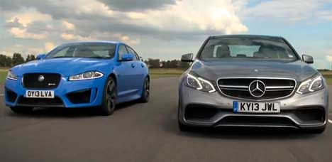 Jaguar XFR-S vs Mercedes E 63 AMG