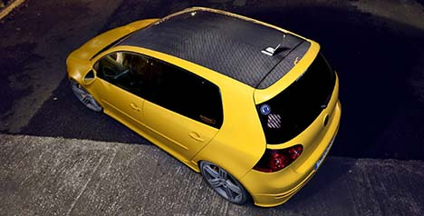 Volkswagen Golf carbon fibre roof