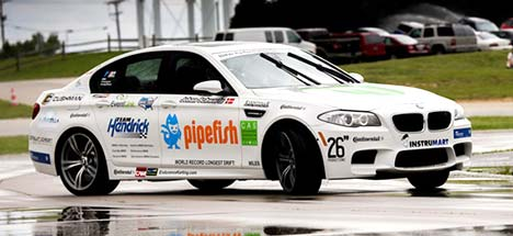 BMW M5 drifts to Guinness World Record