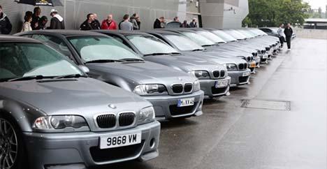 BMW M3 CSL gathering