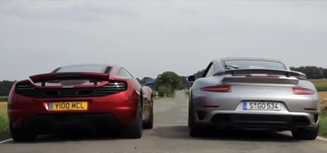 Porsche 911 Turbo S vs McLaren 12C drag race