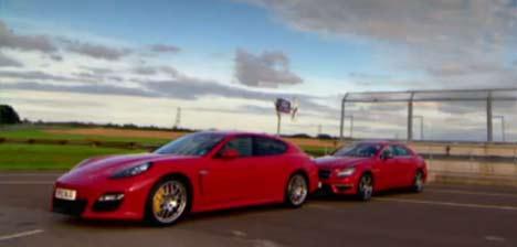 Mercedes CLS AMG and Porsche Panamera GTS