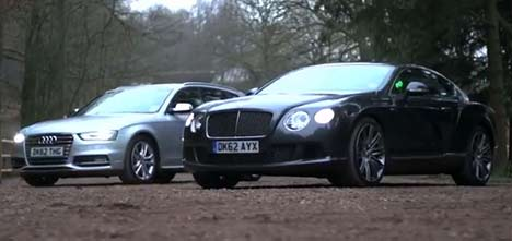 Bentley Continental GT Speed and Audi S4
