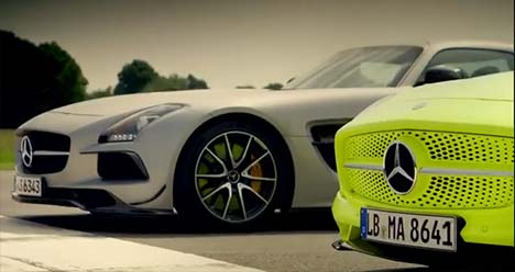 Mercedes-Benz SLS AMG Black Series vs SLS AMG Electric Drive