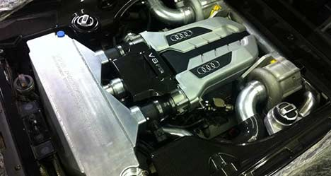 Twin-supercharged Audi R8