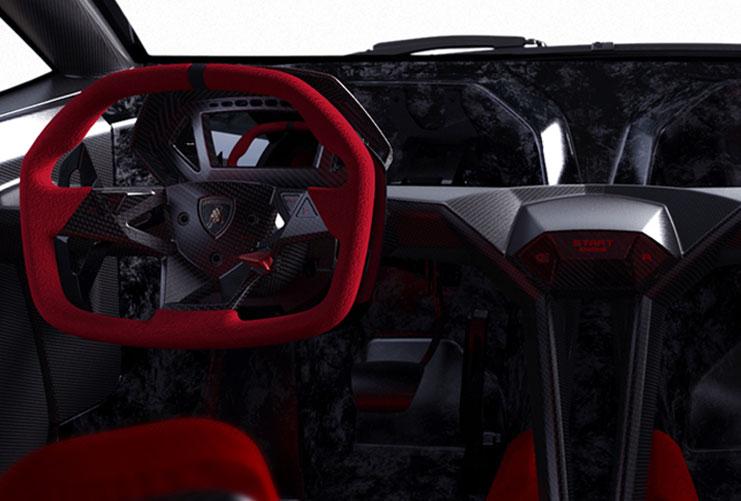 Lamborghini Sesto Elemento Interior. [Source: Lamborghini]