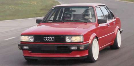 Audi 80 quattro with four-wheel steering