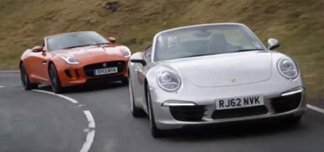 Jaguar F-Type and Porsche 911 Cabriolet