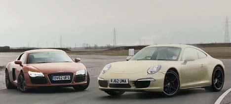 Audi R8 vs Porsche 911 Carrera 4S