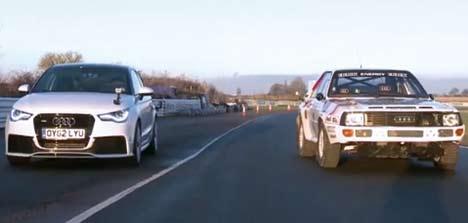 Audi quattro drag race