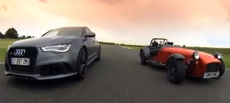 Audi RS 6 Avant vs Caterham 485 R