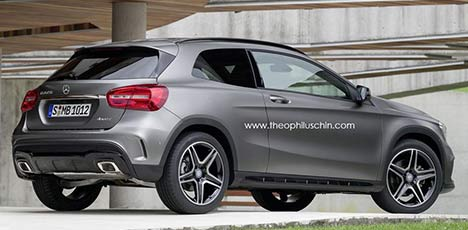 Three-door Mercedes-Benz GLA