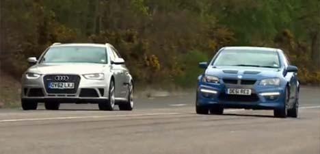 Audi RS 4 Avant vs Vauxhall VXR8 Tourer