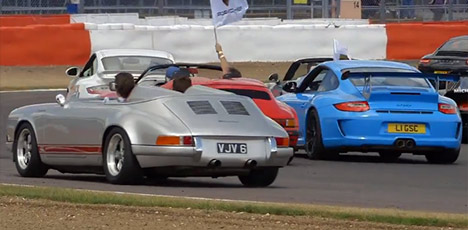 Porsche 911 at the Silverstone Classic 2013