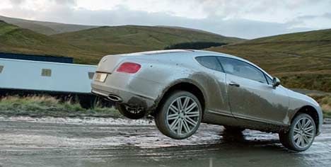 Top Gear Bentley Continental GT Speed rallying