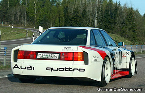 audi 90 imsa gto. An old Audi 90 Quattro was used as the base model for the